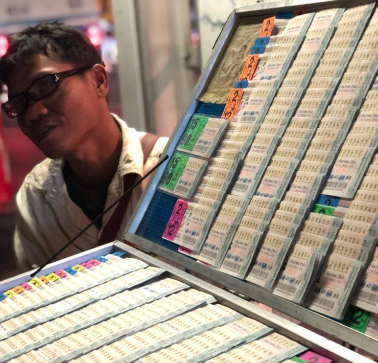 タイの宝くじ Photo by ANNGLE