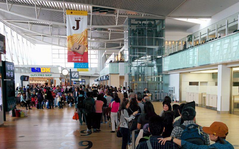 北海道新千歳空港の出発ゲート