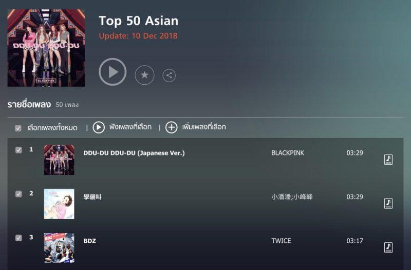 アジアのランキング