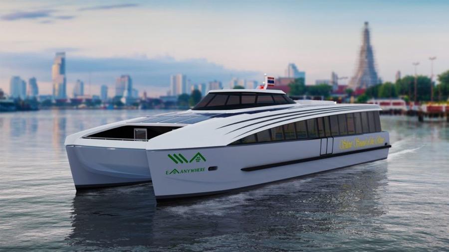 公開された電動客船ボート Photo by EA FB