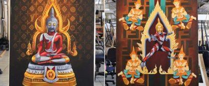 仏陀とウルトラマンの絵画がオークションで超高値落札