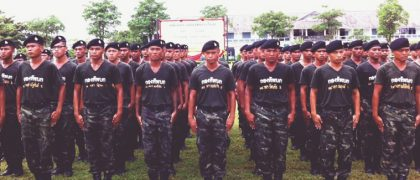 タイの厳しい軍事訓練学校で起きたサプライズ